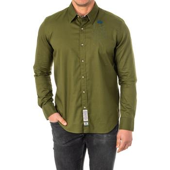 Vêtements Homme Chemises manches longues La Martina M / Chemise longue Vert