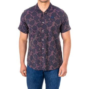 Vêtements Homme Chemises manches courtes La Martina Chemise M / Short Violet