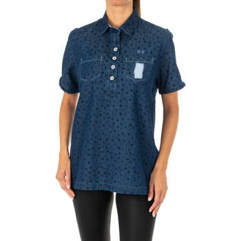 Vêtements Femme Chemises / Chemisiers La Martina Chemise à manches courtes Bleu