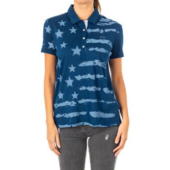 Vêtements Femme Polos manches courtes La Martina Polo à manches courtes Bleu