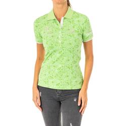 Vêtements Femme Polos manches courtes La Martina Polo à manches courtes Vert
