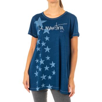 Vêtements Femme T-shirts manches courtes La Martina T-shirt à manches courtes Bleu