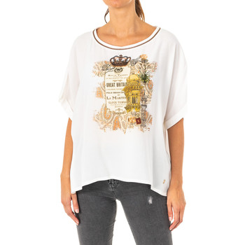 Vêtements Femme T-shirts manches courtes La Martina T-shirt à manches courtes Blanc