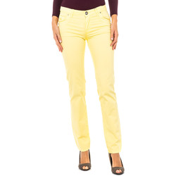 Vêtements Femme Pantalons 5 poches La Martina Pantalon stretch Jaune