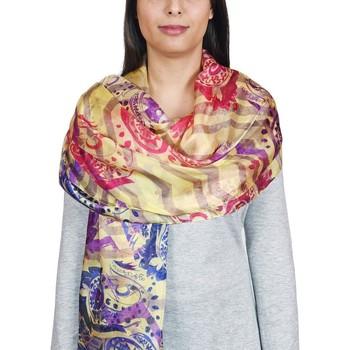 Accessoires textile Femme Echarpes / Etoles / Foulards Allée Du Foulard Etole soie Fioru Jaune