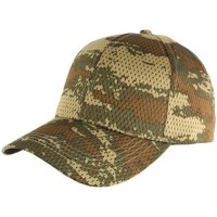 Accessoires textile Homme Casquettes Nyls Création Casquette Militaire Verte Filet Baseball Camouflage Maky Vert