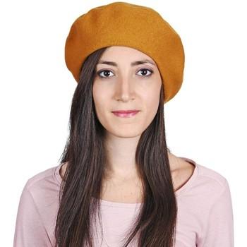 Accessoires textile Femme Bonnets Sacaly Béret Yva Moutarde