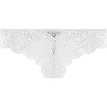Sous-vêtements Femme Tangas Pommpoire Tanga ivoire Feu aux Poudres Blanc
