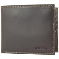Sacs Femme Porte-monnaie Wylson Porte cartes ultra plat en cuir mat  Rio Marron Multicolor