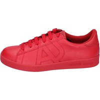 Chaussures Homme Baskets basses Armani jeans sneakers cuir rouge