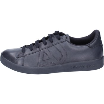 Chaussures Homme Baskets basses Armani jeans sneakers cuir bleu