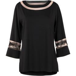 Vêtements Femme Tuniques Lisca Top manches longues Luxury Dream Noir