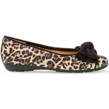 Chaussures Femme Ballerines / babies Gabor Ballerines classiques léopard Beige