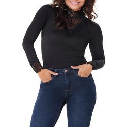 Vêtements Femme T-shirts manches longues Jacqueline De Yong RINE Noir