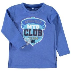 Vêtements Garçon T-shirts manches longues Name It Kids T-Shirt manches longues  Darvinson Victoria Blue Noir