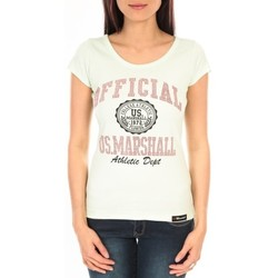 Vêtements Femme T-shirts manches courtes Sweet Company T-shirt US Marshall vert clair F.T110 Vert