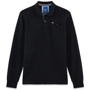 Vêtements Homme Polos manches longues TBS NIKKOPOL Bleu marine