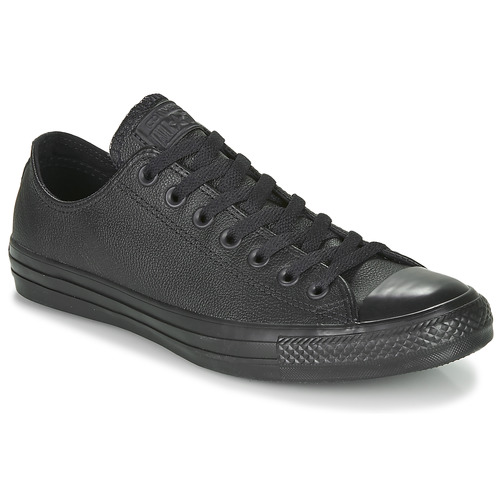 6e8c13443b0d3 Chaussures Baskets basses Converse CHUCK TAYLOR ALL STAR CUIR OX Noir