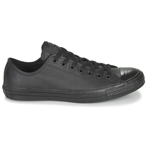 Cuir Noir Ox Baskets Basses Star Converse All Taylor Chuck nw0mN8