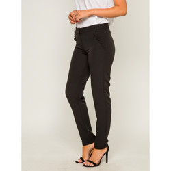 Vêtements Femme Pantalons Dona X Lisa Pantalon cigarette EVOLIA Noir