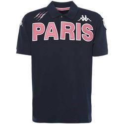 Vêtements Homme Polos manches courtes Kappa Polo rugby Stade Français Pari Bleu