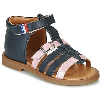 Chaussures Fille Sandales et Nu-pieds GBB GUINGUETTE Marine / Rose
