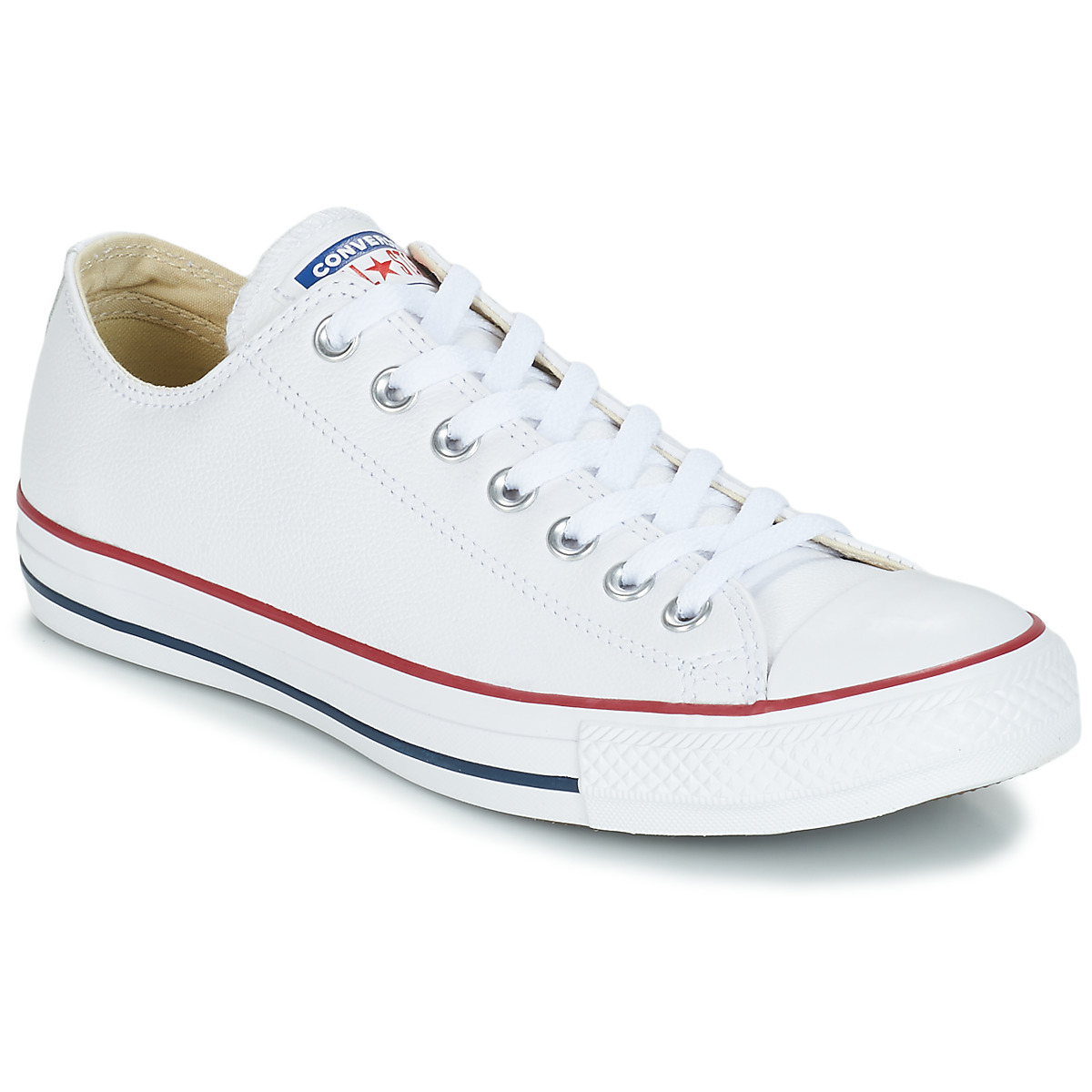converse - chuck taylor all star core leather hi blanc