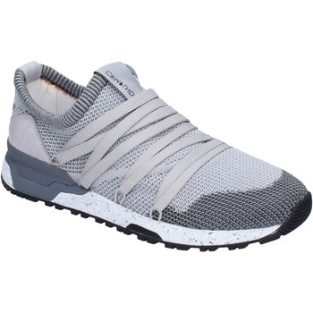 Chaussures Homme Baskets basses Crime London sneakers textile gris