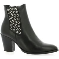 Chaussures Femme Boots Reqin's Boots cuir Noir