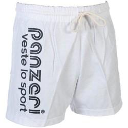 Vêtements Homme Shorts / Bermudas Panzeri Uni a blc/nr jersey short Blanc