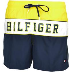 Vêtements Homme Maillots / Shorts de bain Tommy Hilfiger Short de bain  marine et jaune pour homme Jaune