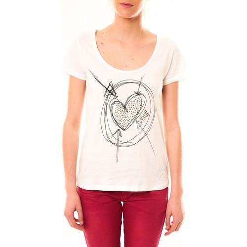 Vêtements Femme T-shirts manches courtes Desigual T-Shirt Elisa 51T25D6 Blanc Blanc