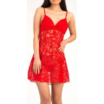Vêtements Femme Pyjamas / Chemises de nuit Bec Collection Nuisette  Adele Rouge