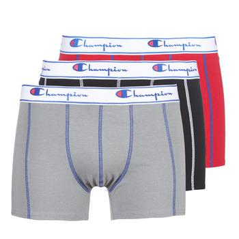 Sous-vêtements Homme Boxers Champion BOXER UNIS PACK DE 3 Rouge / Gris / Noir