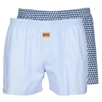 Sous-vêtements Homme Caleçons DIM BOXER FLOTTANT x2 Bleu