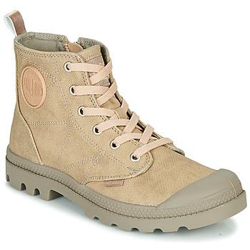 Chaussures Femme Boots Palladium PAMPA HI DESERT Beige