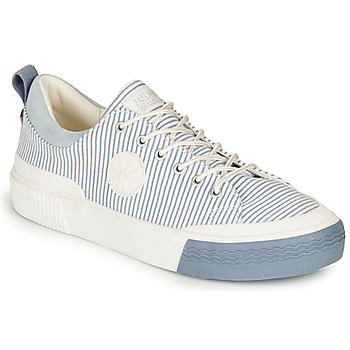 Chaussures Femme Baskets basses Palladium STUDIO 02 TXT Blanc / Bleu