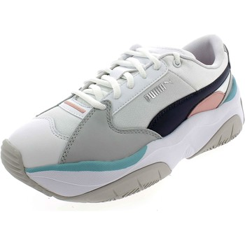 Chaussures Fille Baskets basses Puma STORM Y METALLIC BIANCHE Blanc