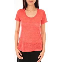 Vêtements Femme T-shirts manches courtes By La Vitrine T-Shirt BLV07 Corail Orange