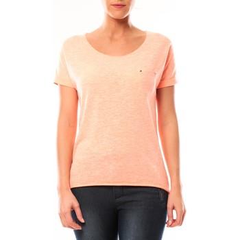 Vêtements Femme T-shirts manches courtes By La Vitrine Tee shirt S13090 Corail Orange