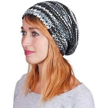 Accessoires textile Femme Bonnets Mokalunga Bonnet Strates Gris