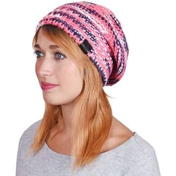 Accessoires textile Femme Bonnets Mokalunga Bonnet Strates Fuchsia