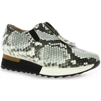Chaussures Femme Slip ons Benoite C Baskets cuir python Noir/blanc