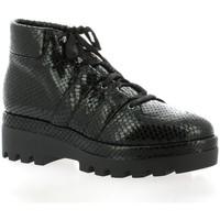 Chaussures Femme Boots Benoite C Boots cuir python Noir
