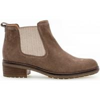 Chaussures Femme Bottines Gabor Boots velours talon  décroché Marron