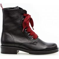 Chaussures Femme Boots Gabor Bottines à lacets Noir