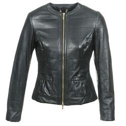 Vêtements Femme Vestes en cuir / synthétiques Geox ASALA Noir