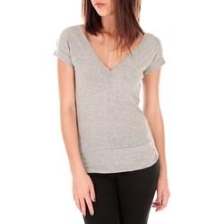 Vêtements Femme T-shirts manches courtes By La Vitrine T-shirt dos cache coeur 017 Gris Gris