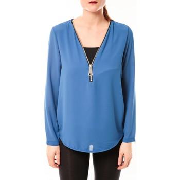 Vêtements Femme Tops / Blouses Vera & Lucy Chemisier Simple Bleu Bleu