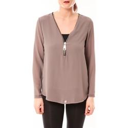 Vêtements Femme Tops / Blouses Vera & Lucy Chemisier Simple Marron Marron